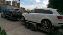 Служба экстренной эвакуации автомобилей 24 часа в Волгограде, Волжском и по всем регионам РФ - перевозка двух автомобилей Audi Q5 и Audi Q7 в город Санкт-Петербург по автодороге М4 Дон